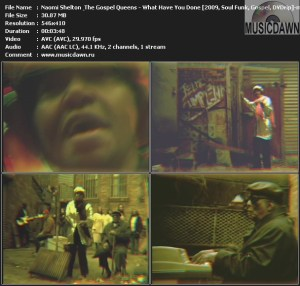 Naomi Shelton & The Gospel Queens – What Have You Done? [2009, DVDrip] Music Video