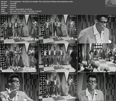 The Temptations - My Girl (Live @ Swingin' Time 1966) {Soul, DVDrip}