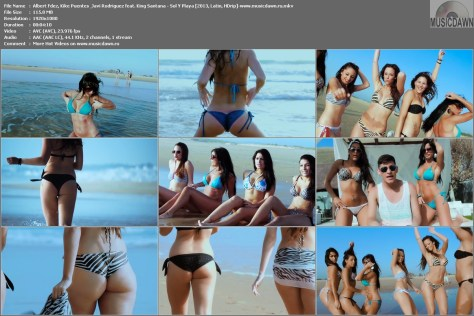 Albert Fdez, Kike Puentes & Javi Rodriguez feat. King Santana – Sol Y Playa [2013, HD 1080p] Music Video