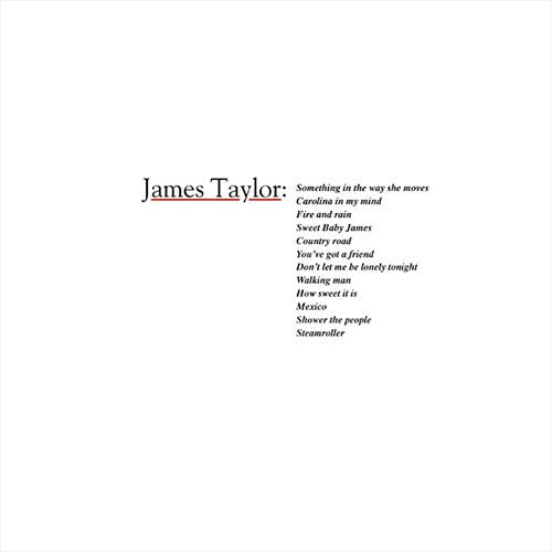 james taylor greatest hits volume 2 album cover