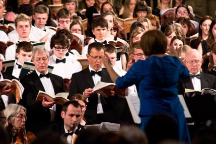 Hilary Ions conducting Durham County Youth choir and alumni. Photo (c) Simone Rudolphi SR Projects https://www.facebook.com/SRProjects4Photography