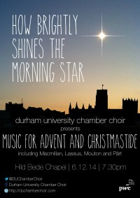 How brightly shines the morning star – DUCC