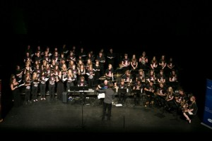 NYCGB and Durham Music Service band and choir