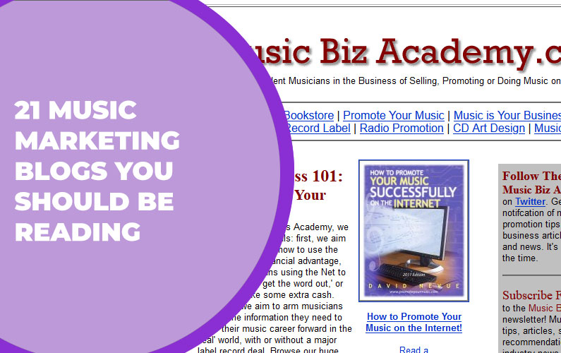 21 Music Marketing Blogs You Should be Reading