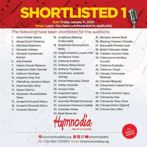 hymnodia season 2 shortlist
