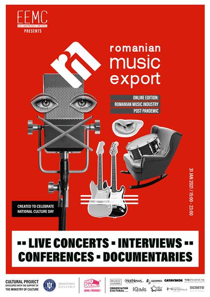 Romanian Music Export, primul program românesc de promovare și de export muzical la nivel european, va avea o ediție online pe 31 ianuarie 2021