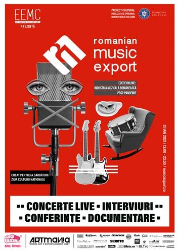 Despre repornirea industriei muzicale românești la Romanian Music Export, online, pe 31 ianuarie 2021