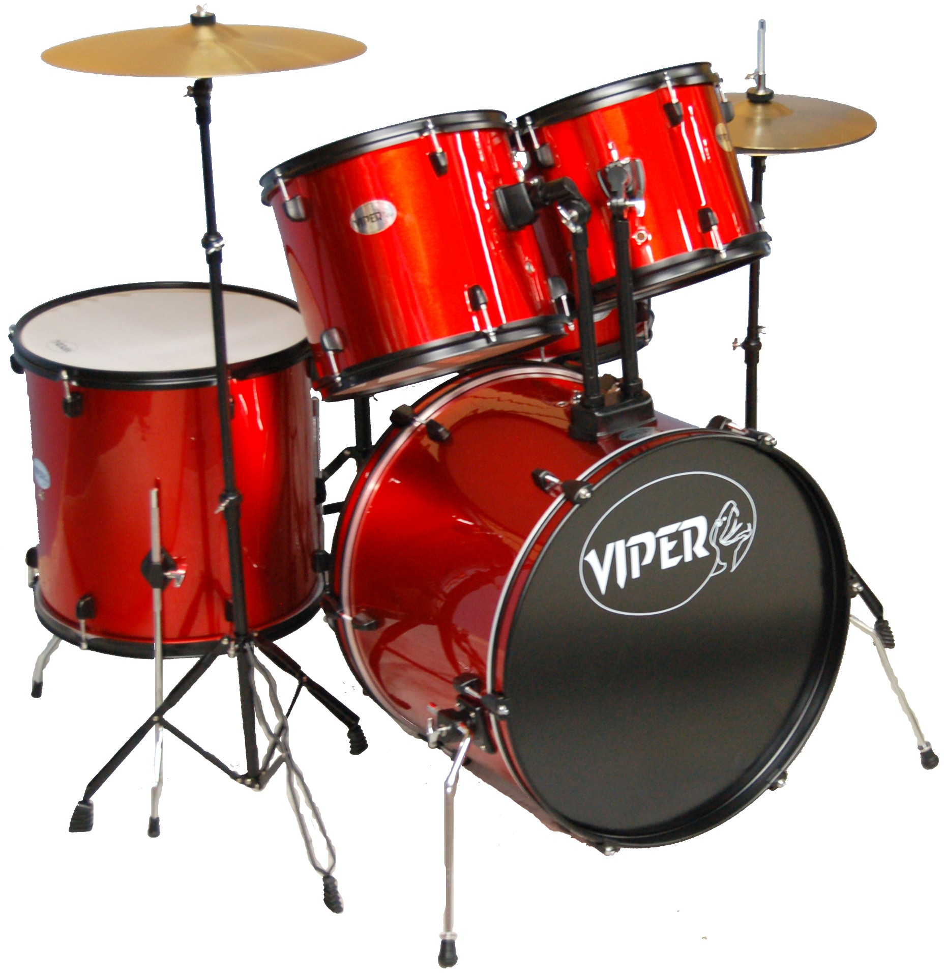 VIPER STUDENT DRUM SET METALLIC RED