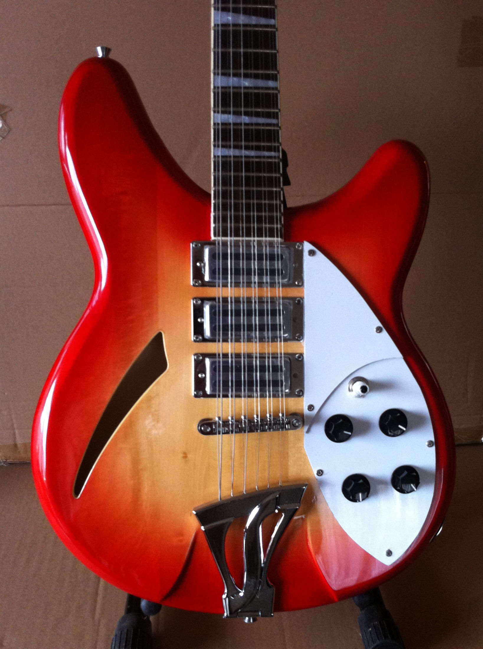 Fishbone FGH-CHERRY-12- String Electric Semi-Solid Body