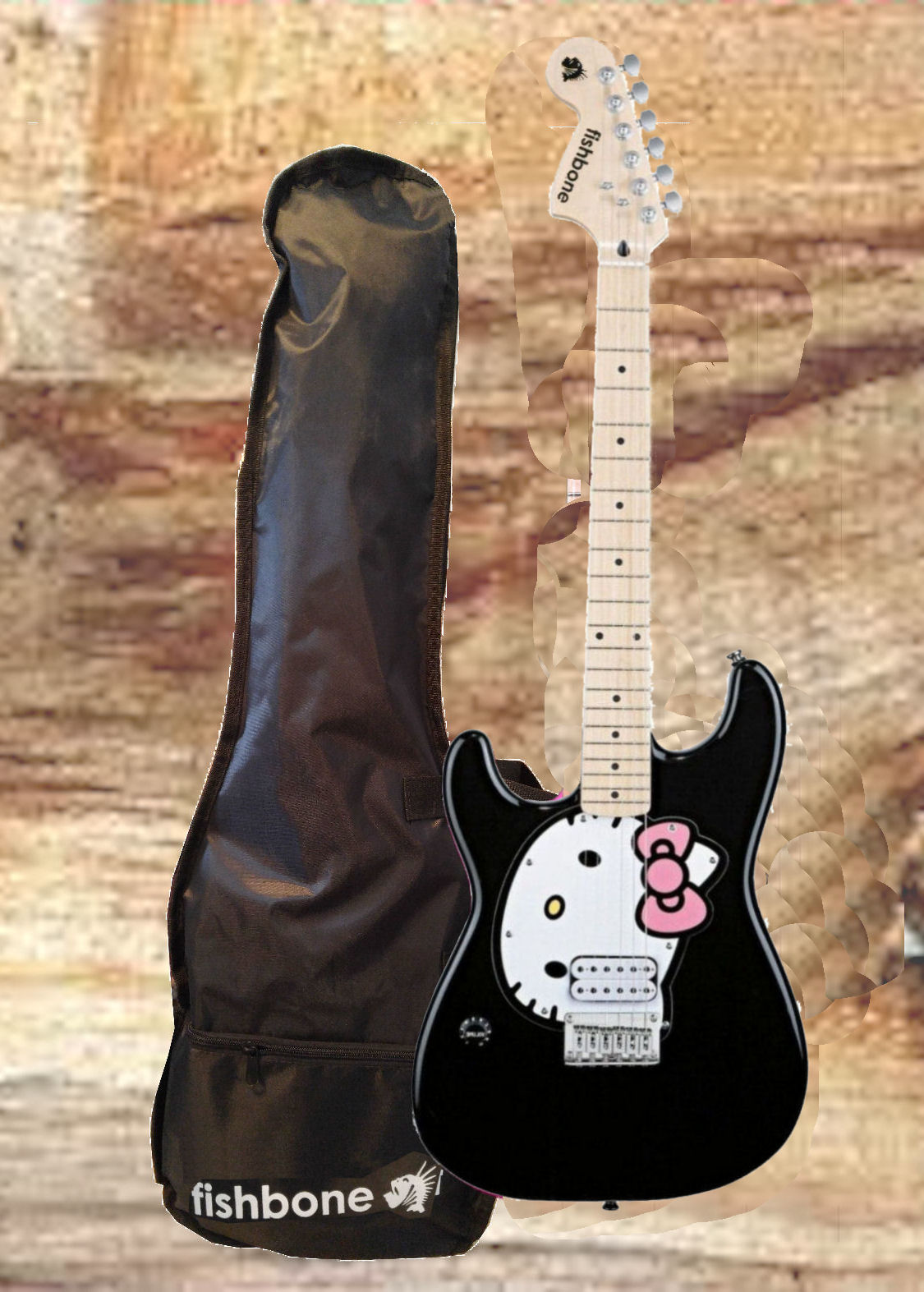 fishbone HELLO KITTY-BLACK 3/4 Size LEFTY