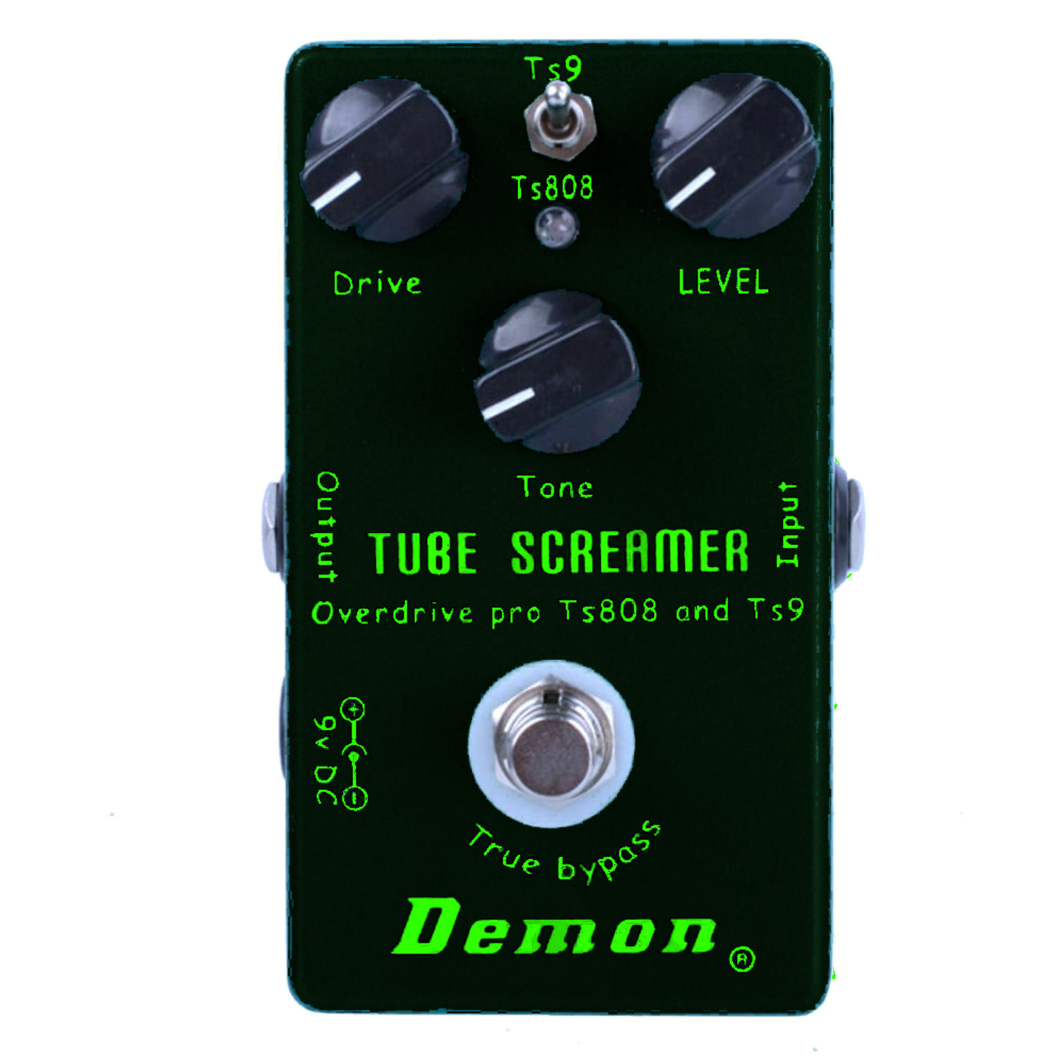 Demon Black Vintage Tube Screamer TS9 and TS808 with Keeley Plus Mods