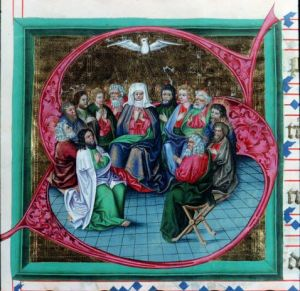 Apostles and Mary at Pentecost