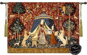 French unicorn tapestry
