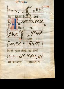 Plainchant MS with initial A