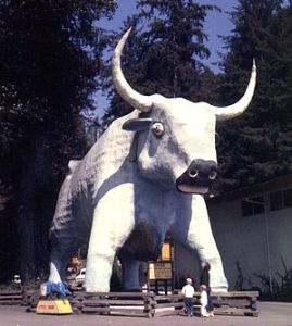 Sculpture of ox