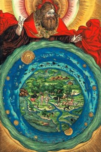 God creating earth