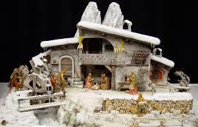 Crib scene in the snow