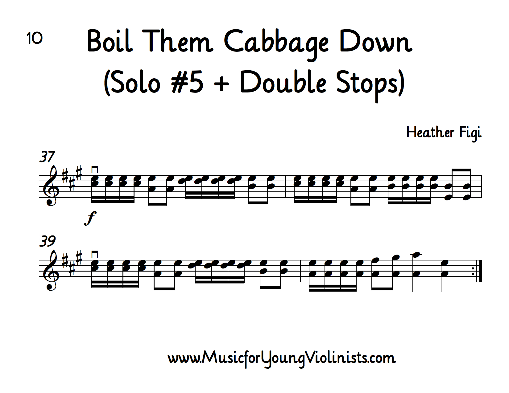 10 Boil Them Cabbage Down Solos For Beginning Violin 9