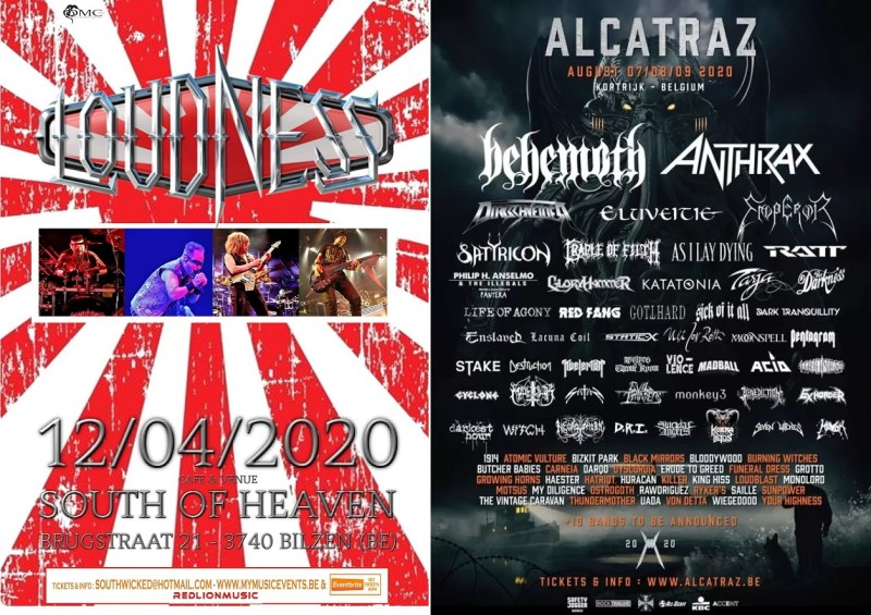 affiches concerts loudness be 2020