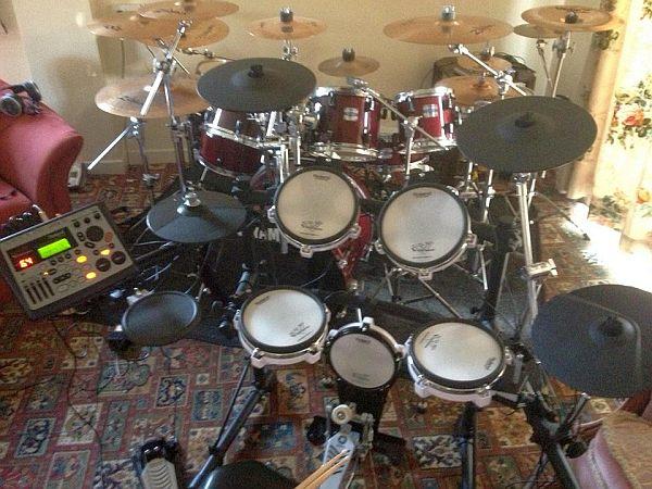 James Frew's drum kit