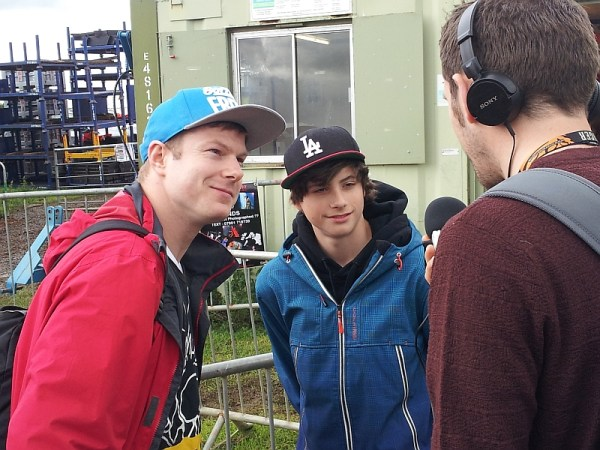 Jonezy and Alexandru being interviewed by a BBC Radio reporter on Saturday