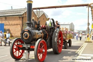 Steam traction engine at the Brush jubilee event. Photo: Mat Borland