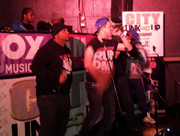 Rappers performing at Havana Oxjam 2014