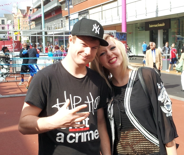 Jonezy and Sophie Garner at the City Festival in 2014