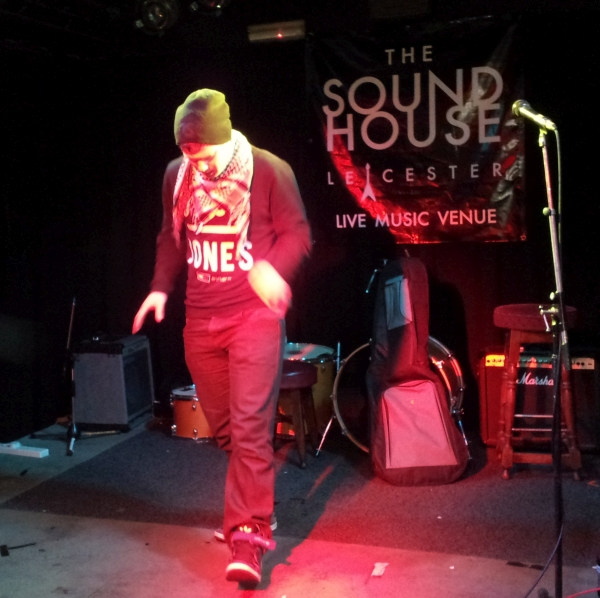 Jonezy on stage at The Soundhouse 2015
