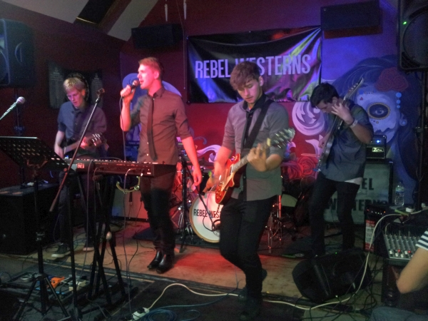 Chasing Deer on stage at Pi Bar on 23rd July