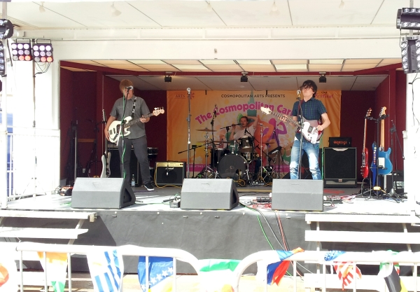 Flight15 on stage at the City Festival, 2015
