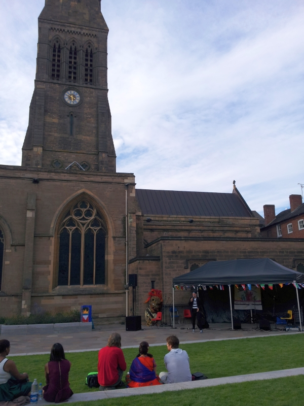 Jonezy performing at Leicester Cathedral for the Cosmopolitan Carnival 2015
