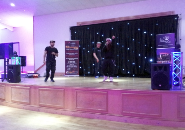 Leicester's Got Talent Rappers on stage