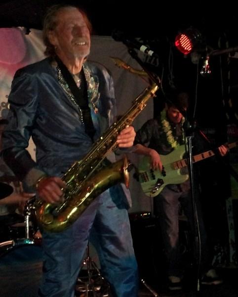 Saxophonist Nik Turner from Hawkwind