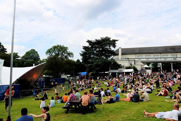 The garden area at Simon Says festival 2016. Photo: Kevin Gaughan.