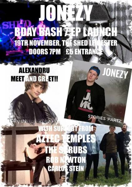 19th November 2016. Jonezy at The Shed