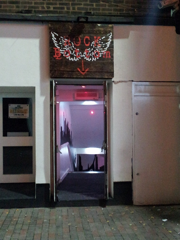 Entrance to Rock Bottom venue, in Silver Street, Leicester