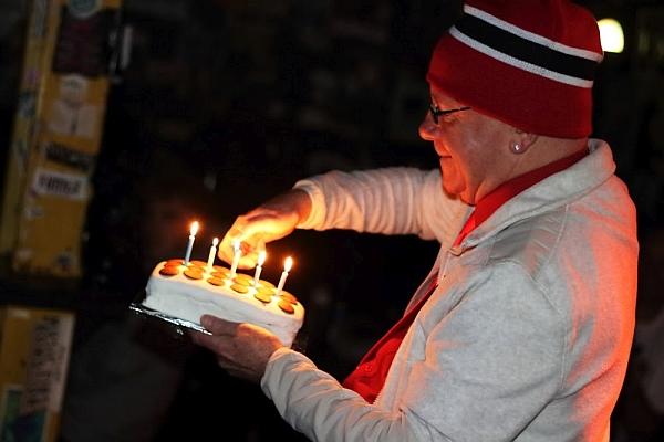 Jonezy's birthday cake 19th November 2016. Photo Kevin Gaughan.