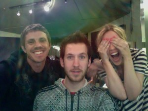 Jake Shears, Calvin Harris and Kylie Minogue