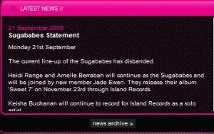 New Sugababes Lineup