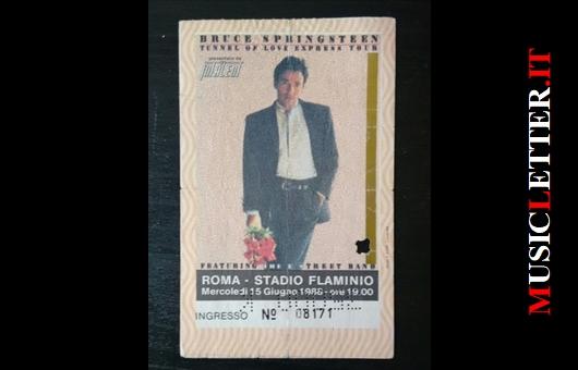 Bruce Springsteen. Roma, 15 giugno 1988.