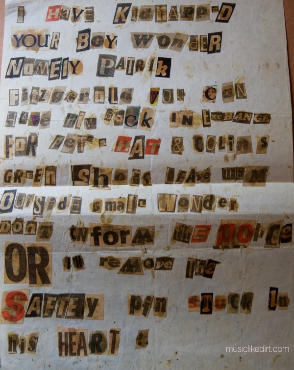 Small Wonder Ransom note