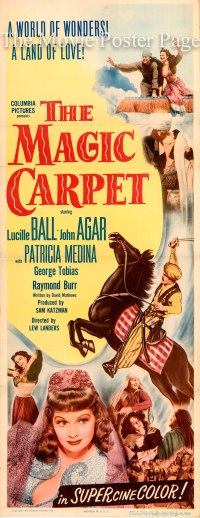 Magic Carpet, The (1951) - (Lucille Ball) US insert F, NM ...