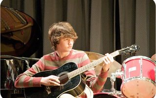 Brendan, another great guitarist playing in our Advanced Rock Bands.