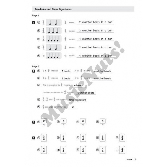 Music Theory for Young Musicians Model Answers Grades 1-5