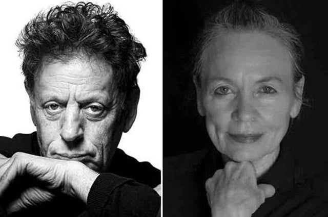 Philip Glass and Laurie Anderson