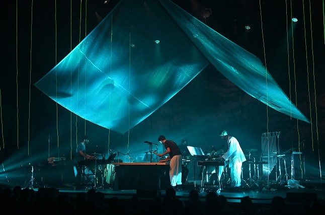 Pantha Du Prince performing Conference Of Trees at the Barbican. Photo: Mark Allan/Barbican.