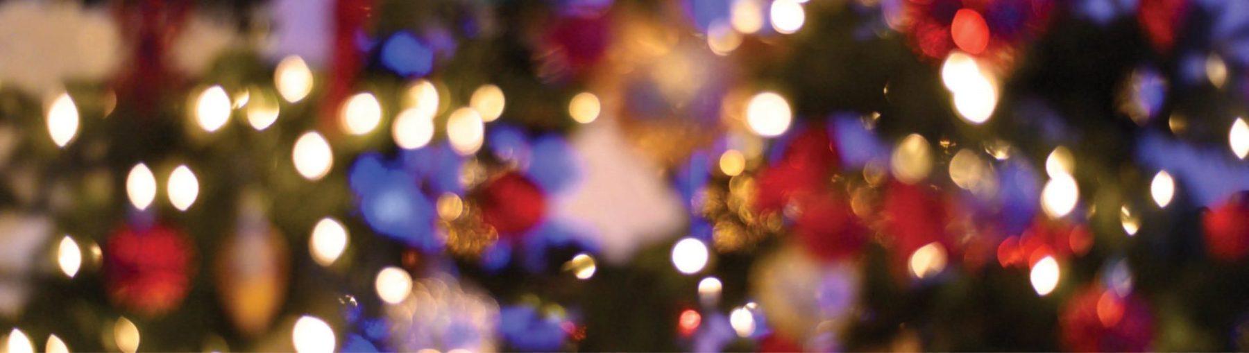twinkling holiday lights