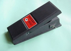 Model 1850, Thunderbolt pedal, requires integral 9V battery driving a printed circuit-board.
