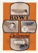 1976* Orange Rowe DeArmond catalog, eight pages